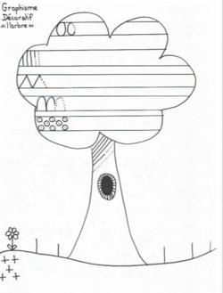 Graphisme décoratif : l'arbre (GS)