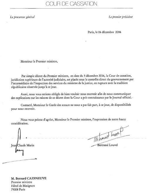 LA COUR DE CASSATION SOUS TUTELLE D'ETAT !
