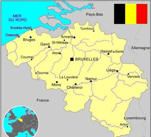 carte Belgique tourisme