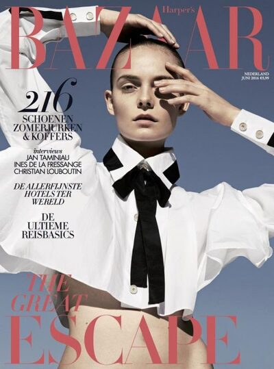 As usual, the One-Eye sign has been prominently displayed around the world on magazine covers. This is the cover of Bazaar Netherlands.