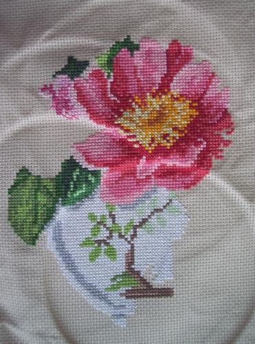 Point de croix mag/Ricamare, Bouquet rose (Karine)