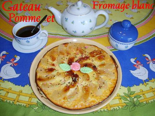 Gateau aux pommes et fromage blanc