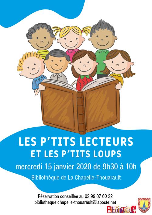 RV aux P'tits lecteurs et les p'tits loups mercredi 15/01 à 9h30