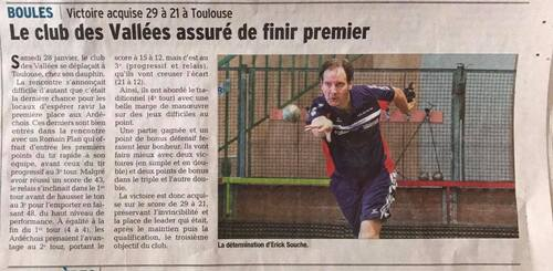 ESB DES VALLEES - TOULOUSE = 29 - 21