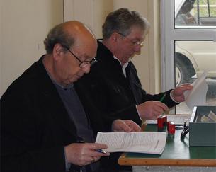 Le président Louis Minardi et Jean-Louis Pigeon