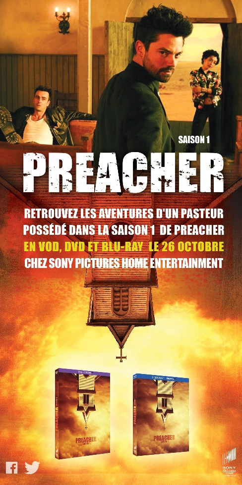 PREACHER saison 1 en DVD, Blu-ray et VOD le 26 octobre 2016 chez Sony Pictures Home Entertainment