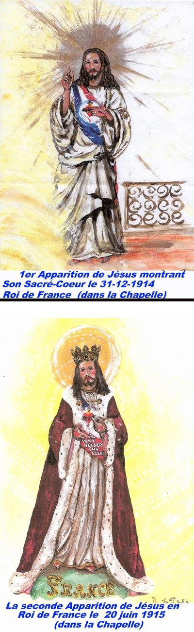 Versailles : Apparitions de Jésus