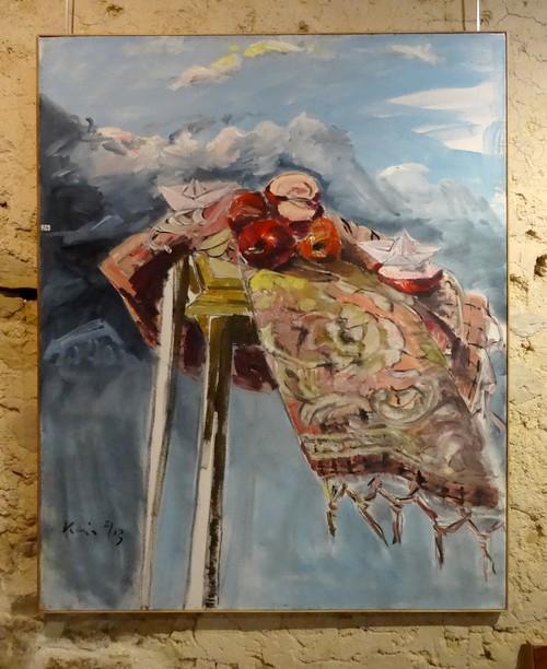 Karin Neumann présente ses natures mortes à Nesle...