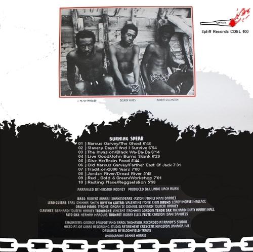 """Burning Spear : CD """" Marcus Garvey-Garvey's Ghost """" Spliff Records CDEL 100 [ FR ] 2020"""