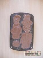 Nounours chocolat lait cœur chocolat blanc & crêpe dentelle