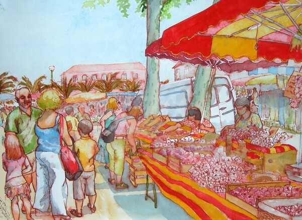 Samedi - Le tableau du samedi : Le marché dans mon village