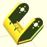2015-04-26 : Support et fourche standards pour servos type MG995 ou MG996R pour montages robotiques