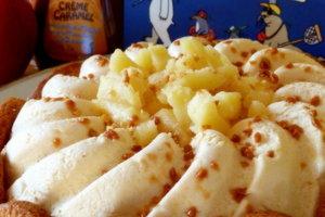 Tarte entremets normand: caramel au beurre salé et pomme