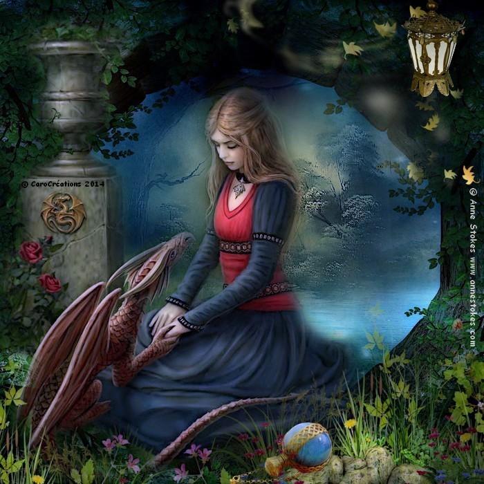 la jeune fille et le dragon