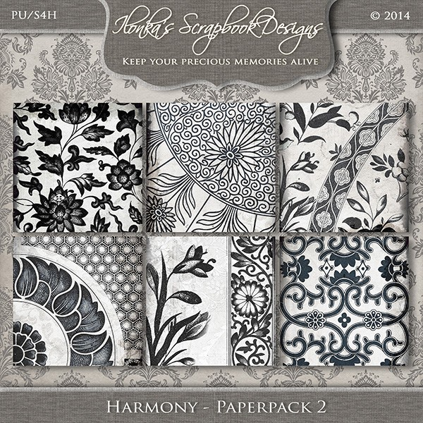 """Harmony"" by Ilonka Scrapbook Designs"