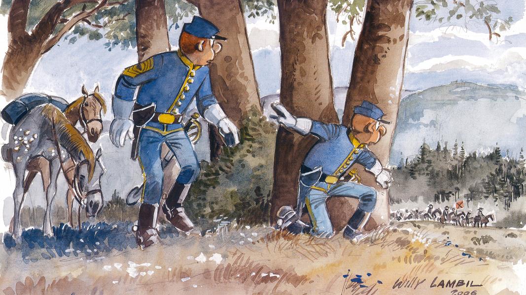 Les Tuniques Bleues, Willy Lambil et Raoul Cauvin.