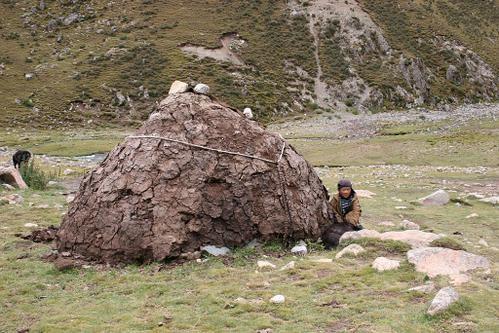 une tente de nomades au Tibet;