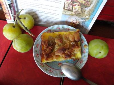 Blog de melimelodesptitsblanpain : Méli Mélo des p'tits Blanpain!, Tarte aux prunes façon crumble