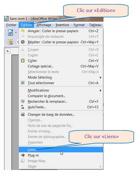 LIBRE OFFICE WRITER - COPIER/COLLER PAGE WEB AVEC IMAGES
