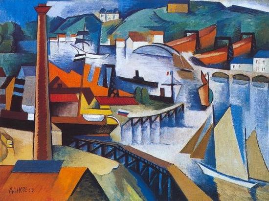Andre Lhote, Entrée Dársena de Bordeaux, 1912