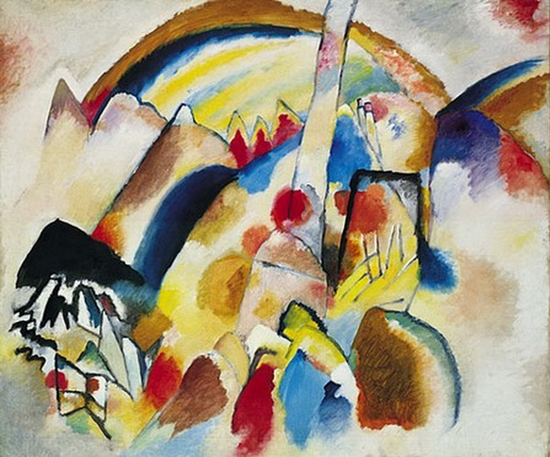 Wassily Kandinsky, Paysage avec taches rouges n° 2, 1913