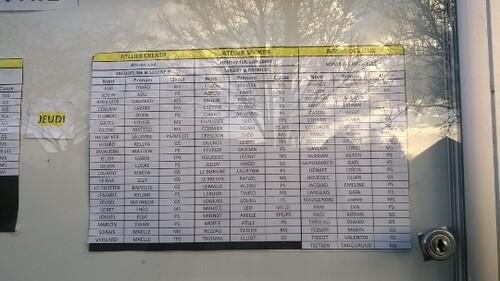 - Listes de TAP à partir du 27/02