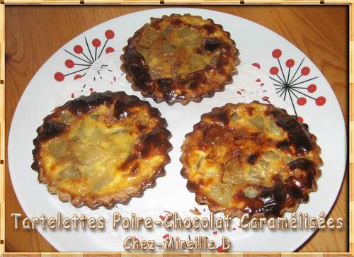 Tartelettes Poires-Chocolat Caramélisées