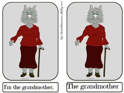 Flashcards the grandmother
