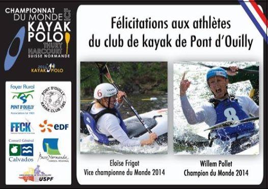 Photo: Félicitations à vous, Eloïse Frigot et Willem Pollet !!!