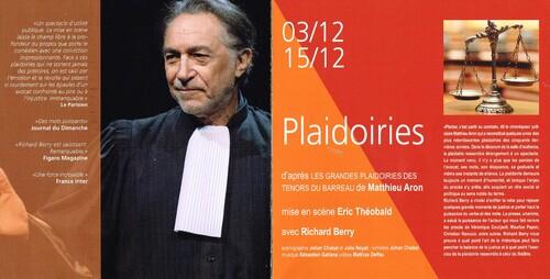 """""""Les plaidoiries"""" avec Richard Berry"""