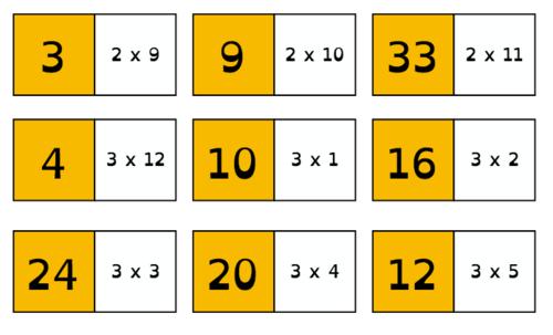 Vu Ailleurs : les dominos de maths