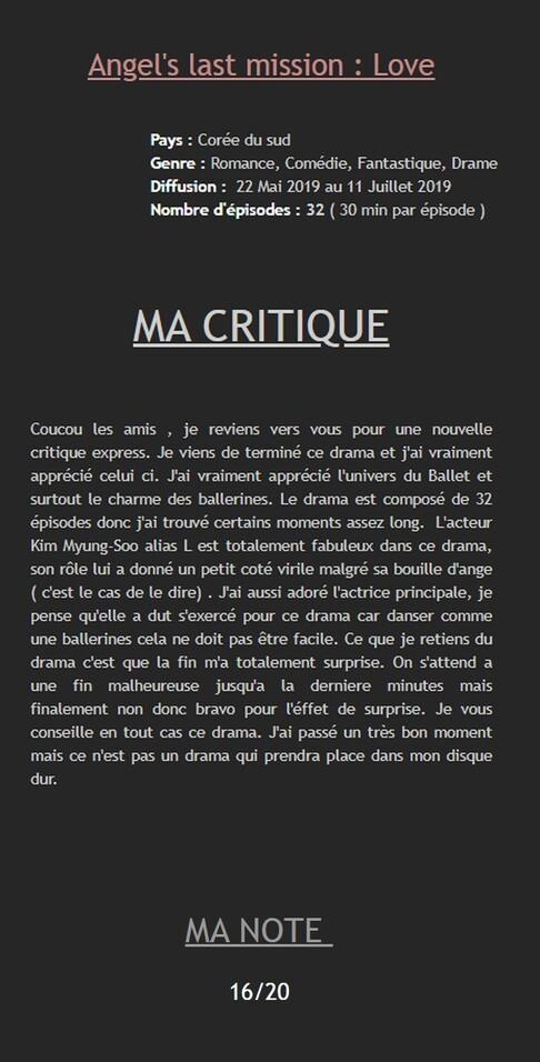• Pause Mini Critique Dramas ✎