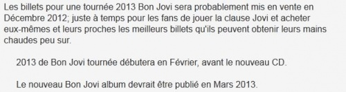 Bon Jovi insider confirms new record and tour coming in 2013