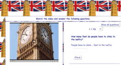 Watch a video about Big Ben and answer questions