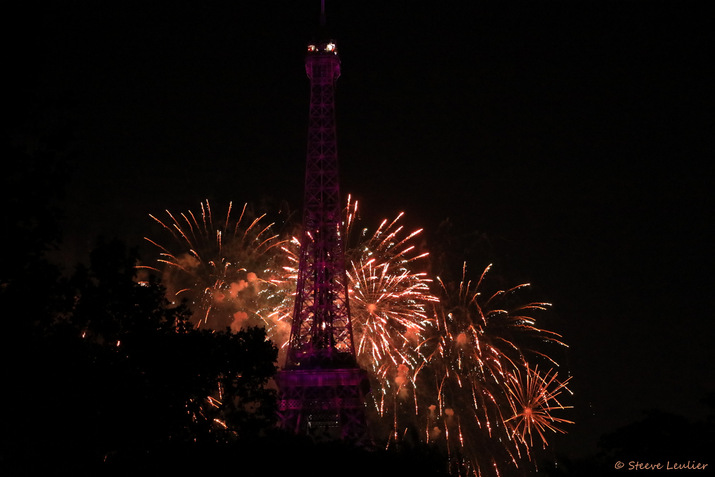 Feu d'artifice de 14 Juillet 2019, Champ de Mars, Paris