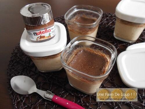 Petits pots de crème au nutella (Seb Multi Délices)