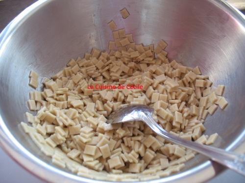 Couronne de pâtes au jambon