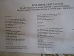 Préparation au concert musical du Collège des Quatre Vents