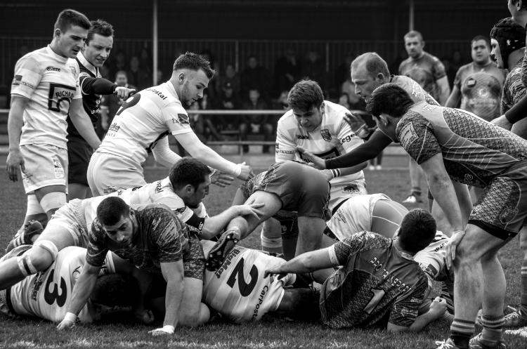 Rugby, stade Griffon (ex-Giraud), Roanne XV - Culin, mars 2016