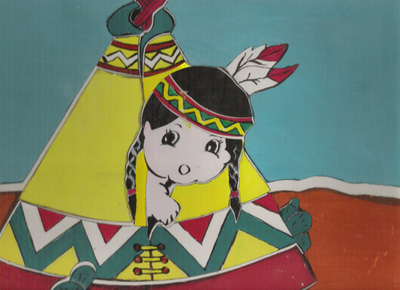 Blog de mimipalitaf :mimimickeydumont : mes mandalas au compas, un petit indien