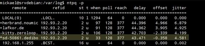 Mise en place d'un serveur NTP