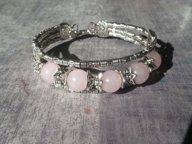 bracelet tibet quartz rose