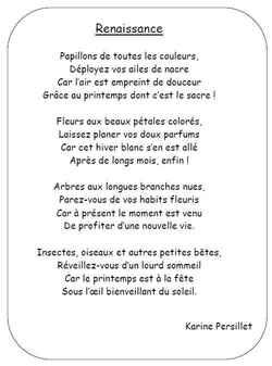 """Poésie """"Renaissance"""" (de Karine Persillet)"""