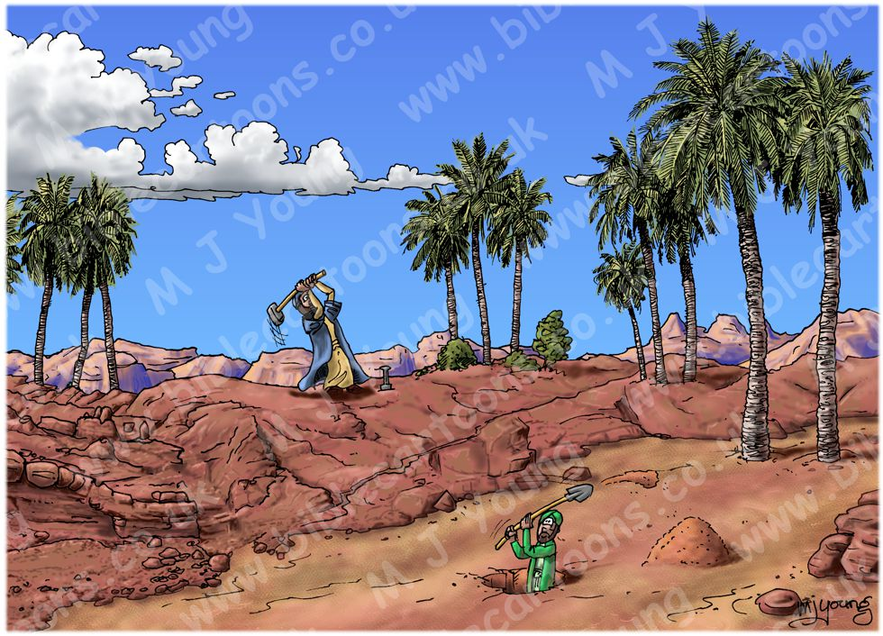Matthew 07 - Parable of wise and foolish builders - Scene 01 - Digging foundations