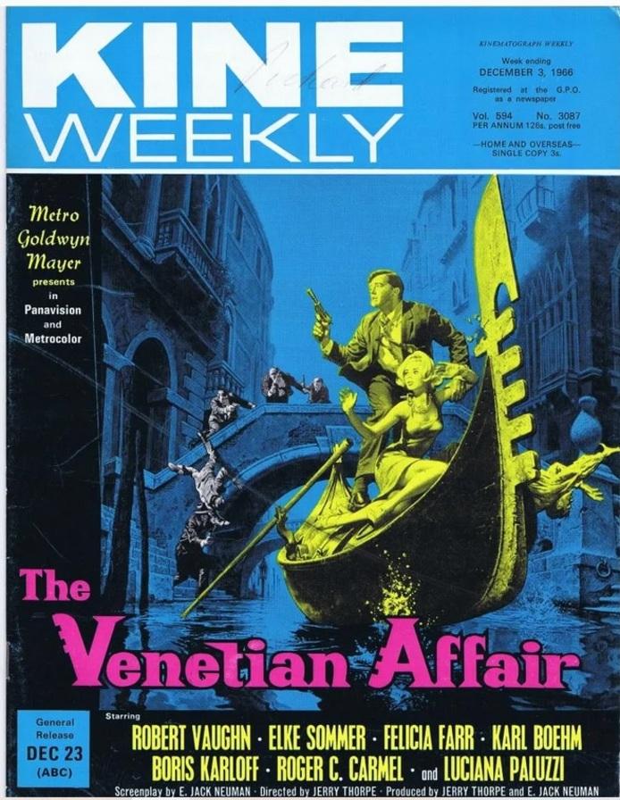 THE VENITIAN AFFAIR BOX OFFICE USA 1966
