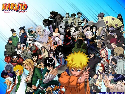 Naruto et Naruto Shippuden multi-personnages