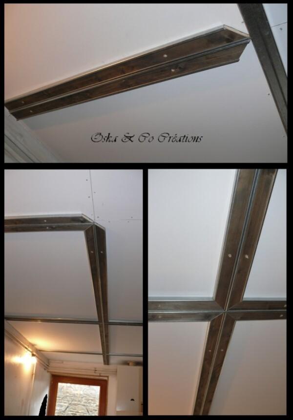 Rénovation plafond avec déco indus 3 Oska & Co Créations