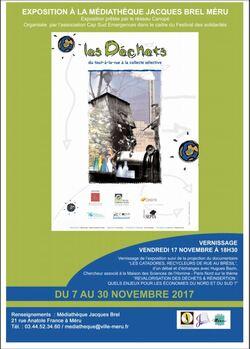 Vernissage et projection-débat à la médiathèque de Méru vendredi 17 novembre à 18h30