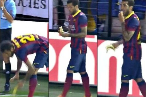 Dani Alves and the banana