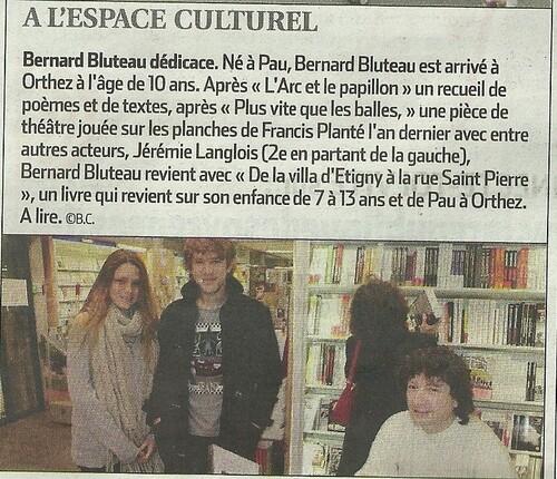 Dédicace Bernard (La République 13/11/2010)